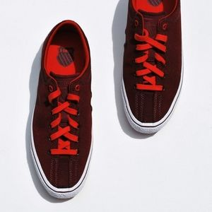 K-Swiss Red Lace Up Sneakers Size 8.5
